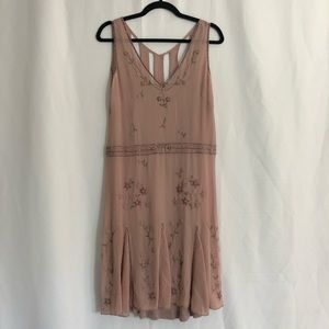 Anthropologie Odille Rose Beaded Silk Dress 4